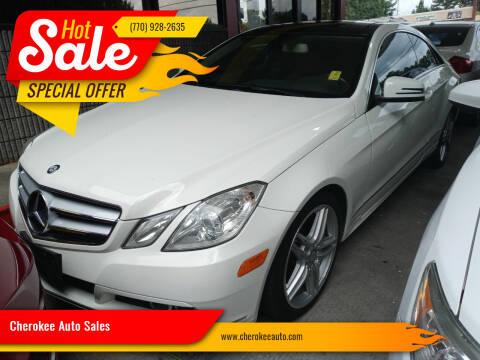 2011 Mercedes-Benz E-Class for sale at Cherokee Auto Sales in Acworth GA