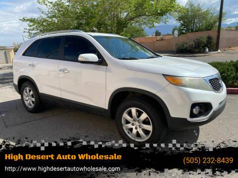 2011 Kia Sorento for sale at High Desert Auto Wholesale in Albuquerque NM