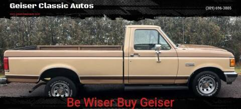 1989 Ford F-150 for sale at Geiser Classic Autos in Roanoke IL