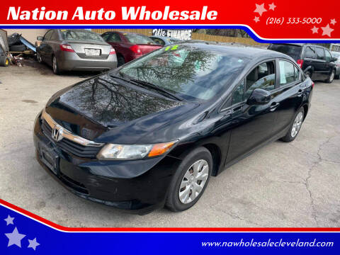 2012 Honda Civic for sale at Nation Auto Wholesale in Cleveland OH