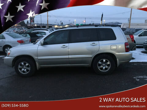 2005 Toyota Highlander for sale at 2 Way Auto Sales in Spokane Valley WA