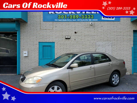2007 Toyota Corolla for sale at Cars Of Rockville in Rockville MD