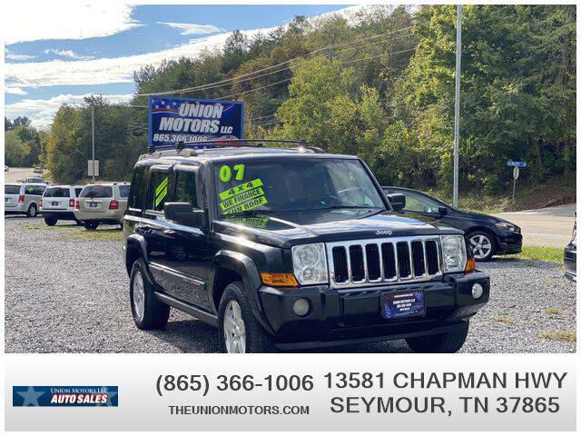 2007 Jeep Commander for sale at Union Motors in Seymour TN