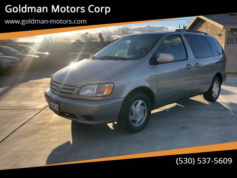 2003 Toyota Sienna for sale at Goldman Motors Corp in Stockton CA