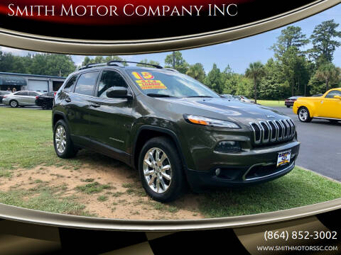 2015 Jeep Cherokee for sale at Smith Motor Company INC in Mc Cormick SC