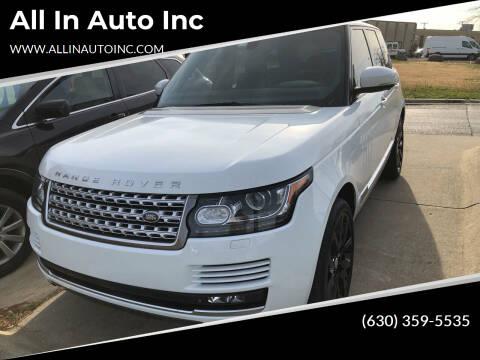 2014 Land Rover Range Rover for sale at All In Auto Inc in Addison IL