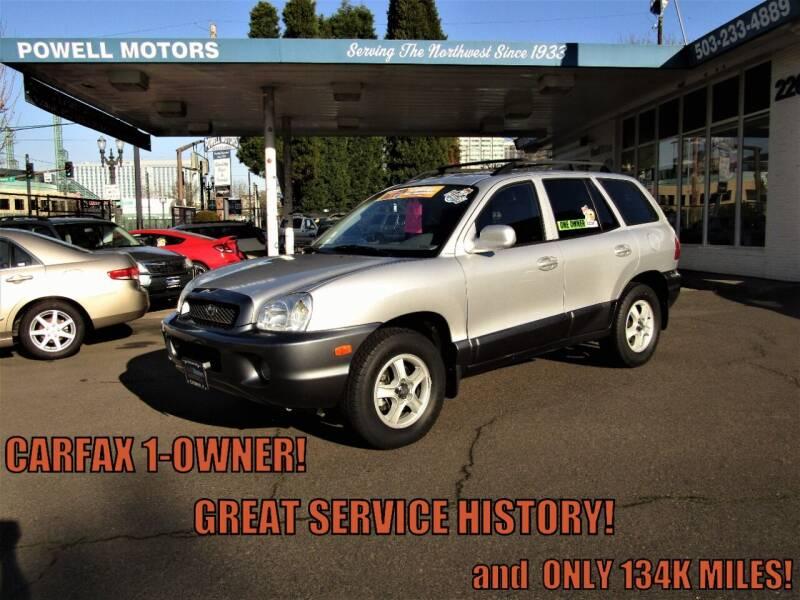 2001 Hyundai Santa Fe for sale at Powell Motors Inc in Portland OR