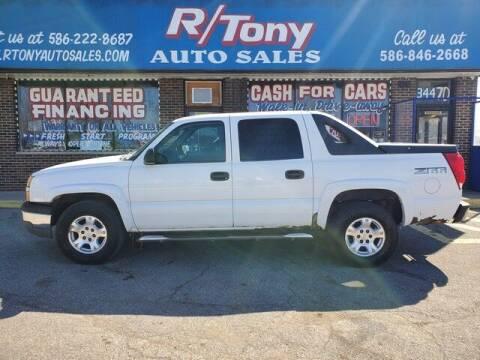 2004 Chevrolet Avalanche for sale at R Tony Auto Sales in Clinton Township MI