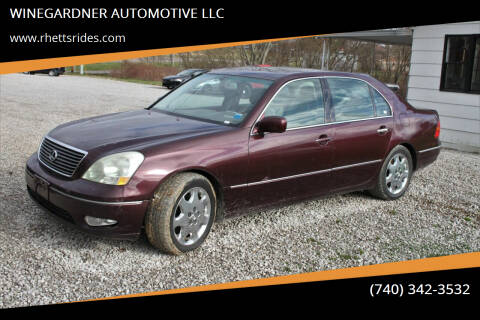 2001 Lexus LS 430 for sale at WINEGARDNER AUTOMOTIVE LLC in New Lexington OH