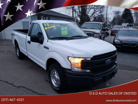 2018 Ford F-150 for sale at D & D Auto Sales Of Onsted in Onsted   Brooklyn MI