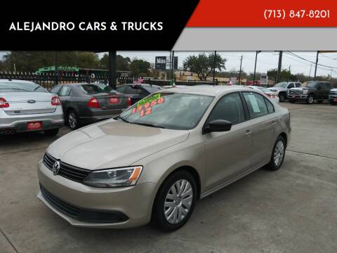 2012 Volkswagen Jetta for sale at Alejandro Cars & Trucks in Houston TX