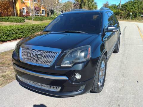 2012 GMC Acadia for sale at LAND & SEA BROKERS INC in Deerfield FL