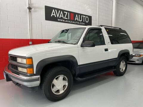 1997 Chevrolet Tahoe for sale at AVAZI AUTO GROUP LLC in Gaithersburg MD