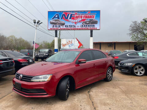 2017 Volkswagen Jetta for sale at ANF AUTO FINANCE in Houston TX