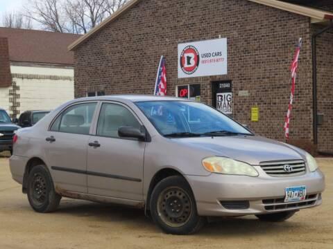 2003 Toyota Corolla for sale at Big Man Motors in Farmington MN