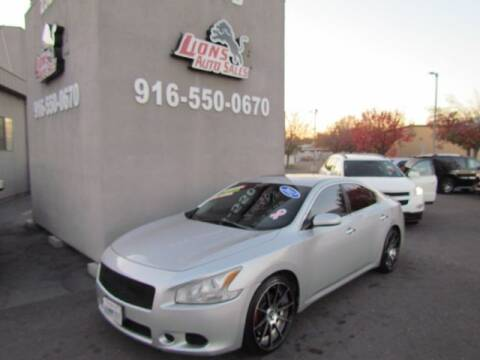 2012 Nissan Maxima for sale at LIONS AUTO SALES in Sacramento CA