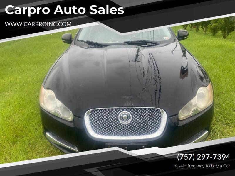 2010 Jaguar XF for sale at Carpro Auto Sales in Chesapeake VA