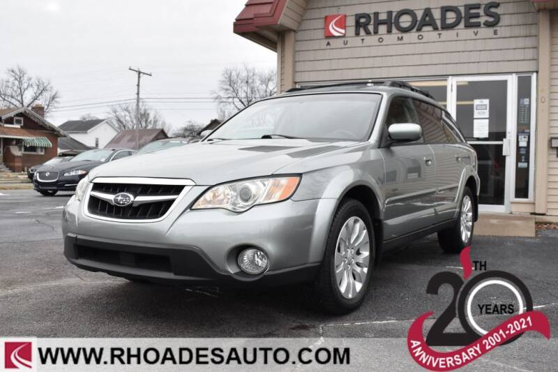 2009 Subaru Outback for sale at Rhoades Automotive in Columbia City IN