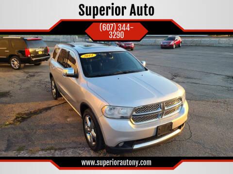 2011 Dodge Durango for sale at Superior Auto in Cortland NY