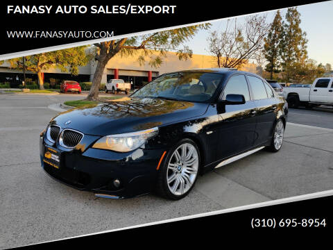2008 BMW 5 Series for sale at FANASY AUTO SALES/EXPORT in Yorba Linda CA