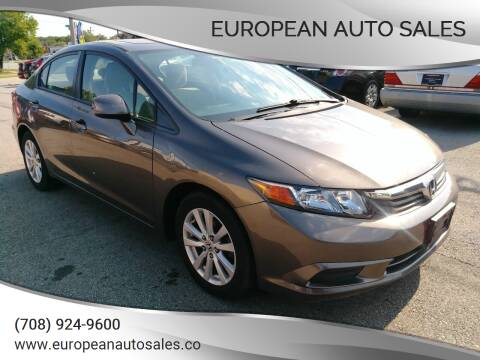 2012 Honda Civic for sale at European Auto Sales in Bridgeview IL