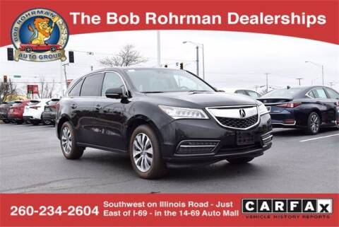 2015 Acura MDX for sale at BOB ROHRMAN FORT WAYNE TOYOTA in Fort Wayne IN