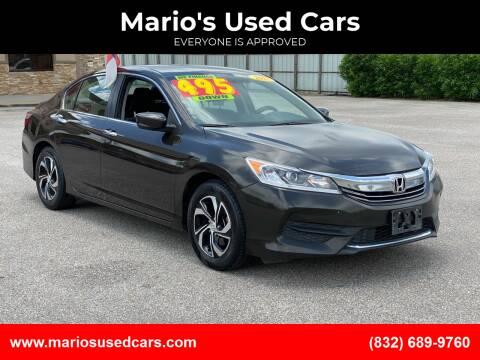 2017 Honda Accord for sale at Mario's Used Cars - Pasadena Location in Pasadena TX