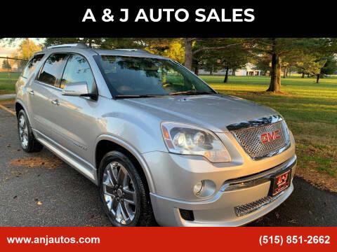 2012 GMC Acadia for sale at A & J AUTO SALES in Eagle Grove IA