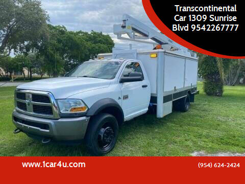 2011 RAM Ram Chassis 5500 for sale at Transcontinental Car in Fort Lauderdale FL