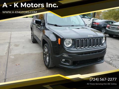 2016 Jeep Renegade for sale at A - K Motors Inc. in Vandergrift PA