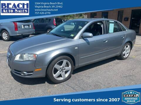 2005 Audi A4 for sale at Beach Auto Sales in Virginia Beach VA