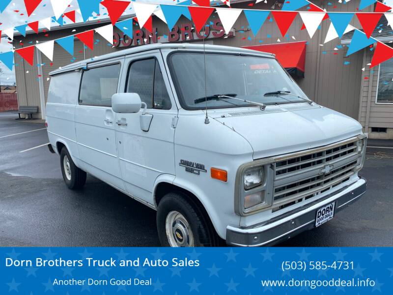 1985 Chevrolet Chevy Van for sale at Dorn Brothers Truck and Auto Sales in Salem OR
