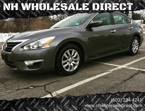2015 Nissan Altima for sale at NH WHOLESALE DIRECT in Derry NH