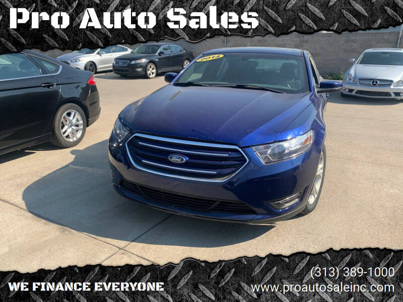 2014 Ford Taurus for sale at Pro Auto Sales in Lincoln Park MI