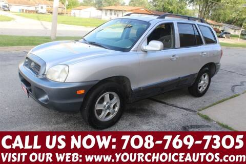2003 Hyundai Santa Fe for sale at Your Choice Autos in Posen IL