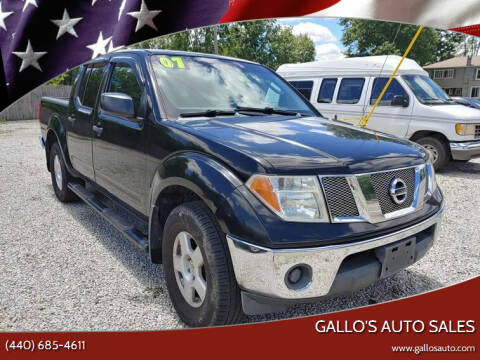 2007 Nissan Frontier for sale at Gallo's Auto Sales in North Bloomfield OH