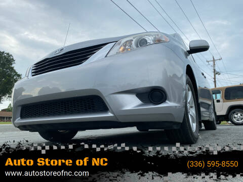 2011 Toyota Sienna for sale at Auto Store of NC in Walkertown NC