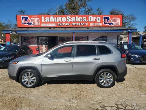 2014 Jeep Cherokee for sale at LA Auto Sales in Monroe LA