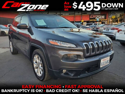 2016 Jeep Cherokee for sale at Carzone Automall in South Gate CA