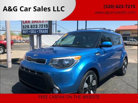 2016 Kia Soul for sale at A&G Car Sales  LLC in Tucson AZ