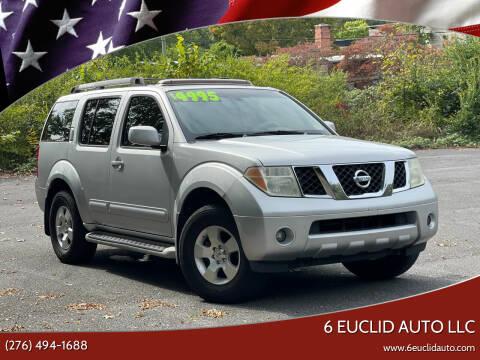 2006 Nissan Pathfinder for sale at 6 Euclid Auto LLC in Bristol VA