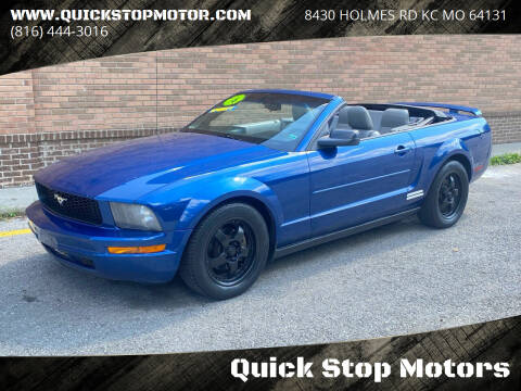 2006 Ford Mustang for sale at Quick Stop Motors in Kansas City MO