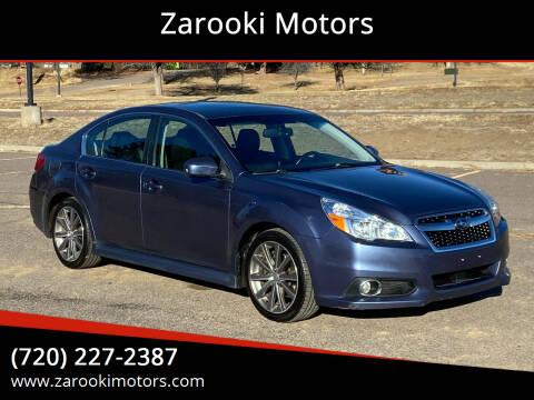 2013 Subaru Legacy for sale at Zarooki Motors in Englewood CO