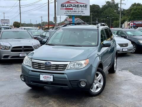 2009 Subaru Forester for sale at Supreme Auto Sales in Chesapeake VA