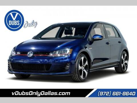 2015 Volkswagen Golf GTI for sale at VDUBS ONLY in Dallas TX