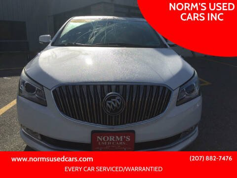 2014 Buick LaCrosse for sale at NORM'S USED CARS INC in Wiscasset ME