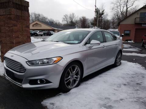 2013 Ford Fusion for sale at R C Motors in Lunenburg MA