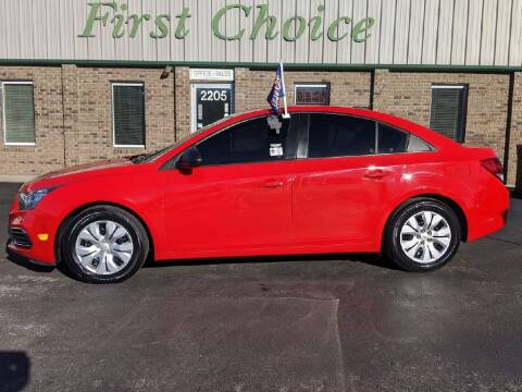 2015 Chevrolet Cruze for sale at First Choice Auto in Greenville SC