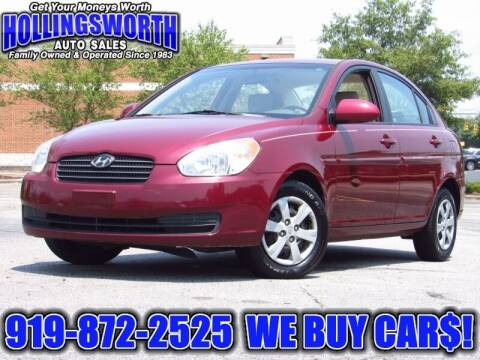 2009 Hyundai Accent for sale at Hollingsworth Auto Sales in Raleigh NC