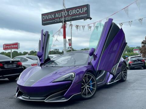 2019 McLaren 600LT for sale at Divan Auto Group in Feasterville Trevose PA